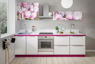 """Кухня """"Розовые цветы"""""""
